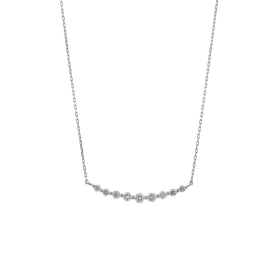 0344-1475-0015<br> プラチナ ダイヤモンド ネックレス