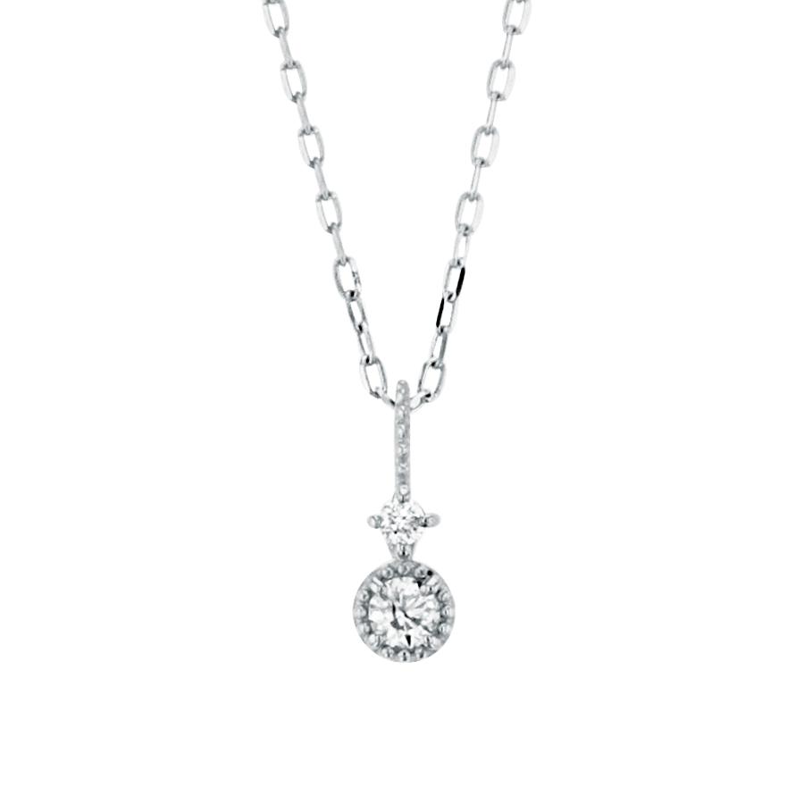 第5話<br> 商品番号:BAPWB1503940<br> K10 ホワイトゴールド ダイヤモンド ネックレス