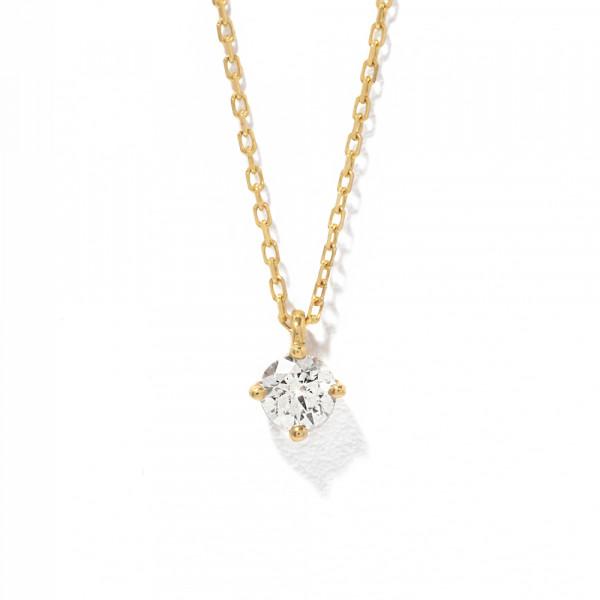 K18 イエローゴールド ダイヤモンド ネックレス(0.1ct)<br>BGPGB21039