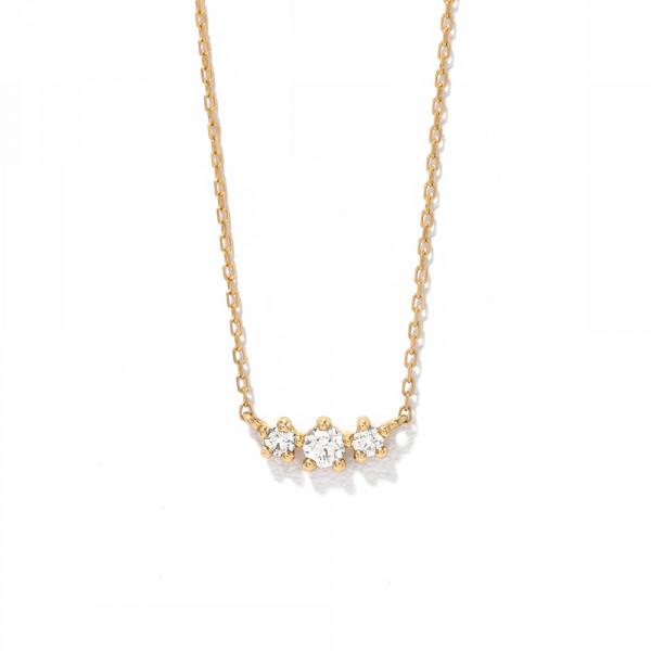 K18 イエローゴールド ダイヤモンド ネックレス(0.1ct)<br>BGPGB21339
