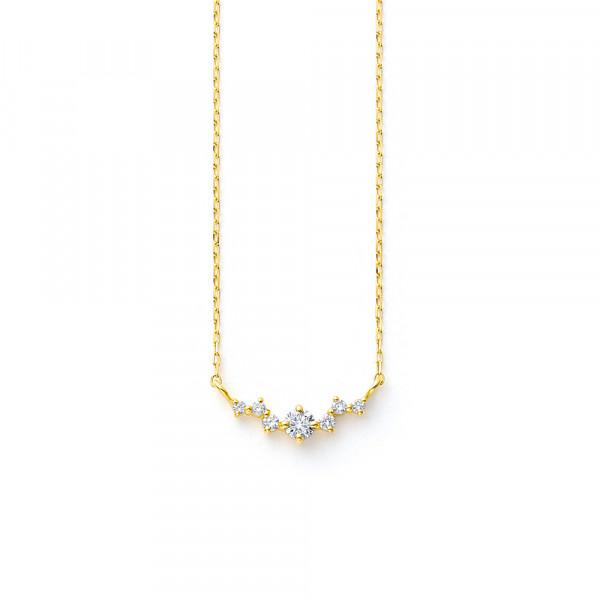 K18 イエローゴールド ダイヤモンド ネックレス<br> BGPGB19939