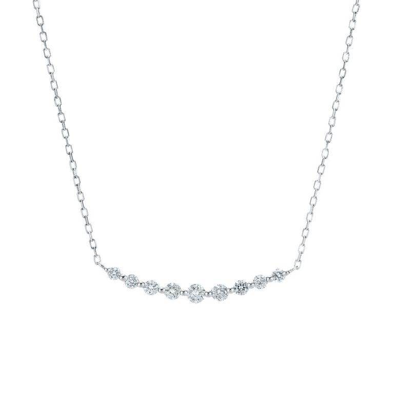 プラチナ ダイヤモンド ネックレス(トータル0.20ct)<br>0344-1360-0014