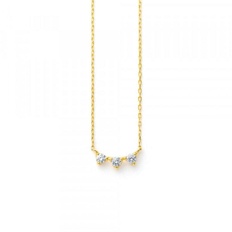 ダイヤモンド イエローゴールド K18 ネックレス<br>BGPGB2013940