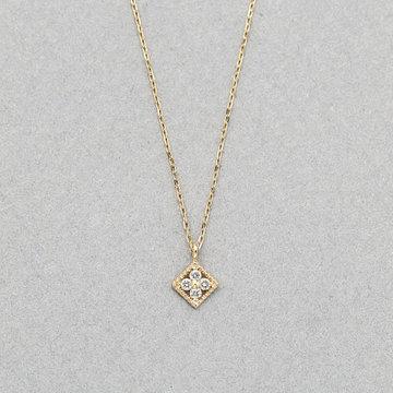 K10 イエローゴールド ダイヤモンド ネックレス<br>0442-9852-0019